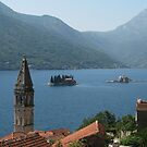 Perast and islands by Elena Skvortsova