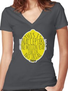 Unacceptable Lemongrab Women's Fitted V-Neck T-Shirt