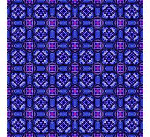 Blue pink purpel checked plaid pattern Photographic Print