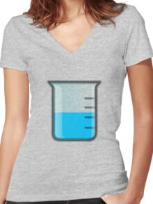 Beaker Science Women's Fitted V-Neck T-Shirt
