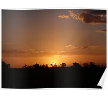 Plain Old Sunset - Port Hedland, Western Australia Poster
