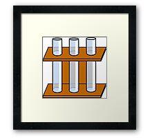 Chemistry Tubes Framed Print