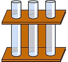Chemistry Tubes Photographic Print
