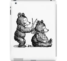 Little Bears Haircut, Drawing iPad Case/Skin