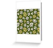 Pattern with cauliflower Greeting Card
