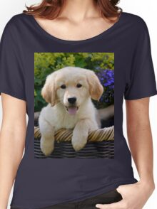 Charming Goldie Puppy Women's Relaxed Fit T-Shirt