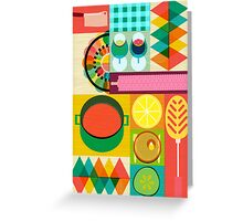 Wondercook Food Kitchen Pattern Greeting Card