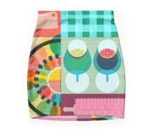 Wondercook Food Kitchen Pattern Pencil Skirt