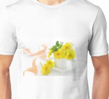 yellow pansy Unisex T-Shirt