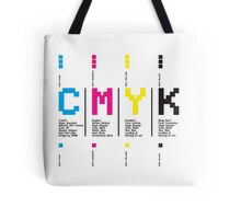 CMYK Colors (White Background) Tote Bag
