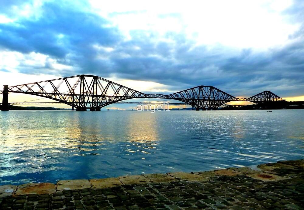 Forth Rail Bridge at Sundown by ©The Creative  Minds