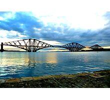 Forth Rail Bridge at Sundown Photographic Print