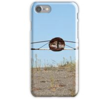 barrier on the road to heaven iPhone Case/Skin