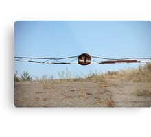 barrier on the road to heaven Metal Print