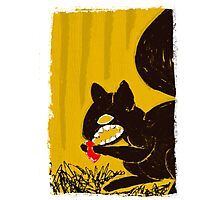 Cute Mr. Squirrel from HELL! Photographic Print