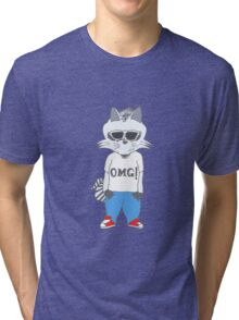 Raccoon OMG Design Tri-blend T-Shirt