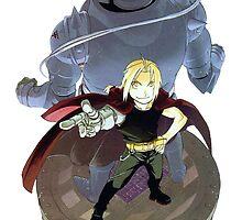 Fullmetal Alchemist - Edward & Alphonse by Whitedark