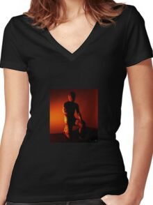 Cracked To The Bone Women's Fitted V-Neck T-Shirt