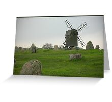 Old time windmill Greeting Card
