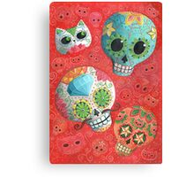 Colourful Sugar Skulls Canvas Print