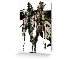 Metal Gear Solid - Solid & Liquid Greeting Card