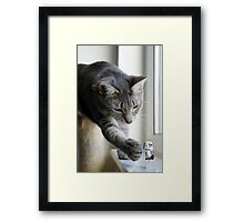 It's behind you! Framed Print