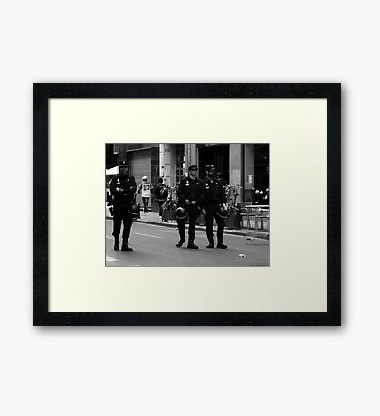 And then there were three Framed Print