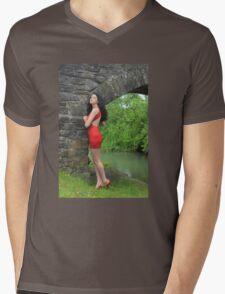 Fashion Art Mens V-Neck T-Shirt