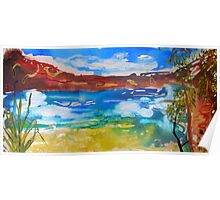 Outback Waterhole  Poster