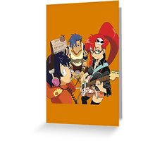 Gurren Lagann Greeting Card