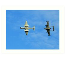 Gloster Meteor and de Havilland Venom Art Print
