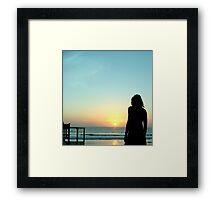 Cocktail dusk Framed Print