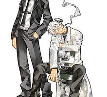 Soul Eater - Spirit Albarn & Dr. Stein by Whitedark