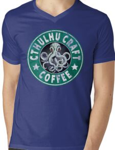 Cthulhu Craft Coffee Mens V-Neck T-Shirt