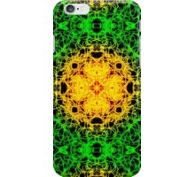 """Spirit of India: Cross-Column"" in grass green and yellow iPhone Case/Skin"