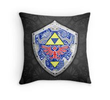 Zelda - Link Shield doodle Throw Pillow