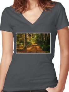 Shady Wood Women's Fitted V-Neck T-Shirt