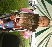 Little Native American Girl at Pow Wow, Riverton, Wyoming. by Mywildscapepics
