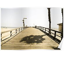 Aged Photo Pier Poster