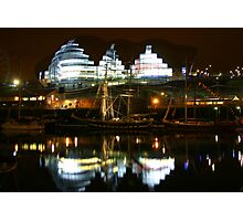 Reflections on River Tyne Photographic Print