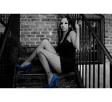 Blue suede shoes Photographic Print