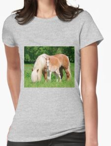 Haflinger, mom and foal Womens Fitted T-Shirt