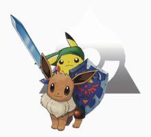 Link Pikachu (on Eevee) Kids Clothes