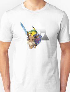 Link Pikachu (on Eevee) T-Shirt
