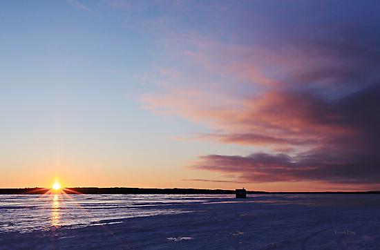 Ice Shanty Sunset by Yannik Hay