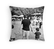 Fatherhood at the Fair Throw Pillow