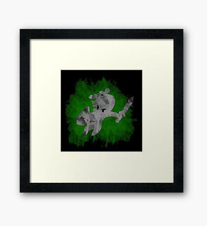 The Minish Brush Green Framed Print