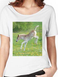 Haflinger foal frolicking Women's Relaxed Fit T-Shirt