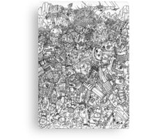 Armored Army Canvas Print