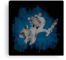 The Minish Brush Blue Canvas Print